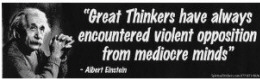 "Albert Einstein ""Great Thinkers"" Bumper Sticker"