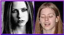 Avril Lavigne with and without makeup