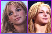 Britney Spears with and without makeup