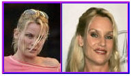 Nicolette Sheridan with and without makeup